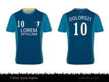 O projeto do esporte do t-shirt para o clube do futebol, a parte dianteira e o uniforme traseiro do jérsei de futebol da vista, o Fotografia de Stock Royalty Free