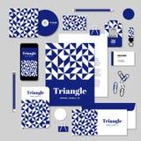 O projeto do molde dos artigos de papelaria do vetor com rombo e o quadrado dão forma Imagens de Stock
