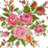 O projeto do quadro do molde para o fundo floral abstrato cardseamless com rosas, borda ilustração stock