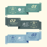 O projeto do vintage etiqueta template.vector infographic Imagens de Stock Royalty Free