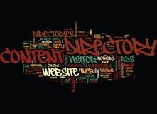 O projeto do Web site do diretório do artigo limpa seu conceito da nuvem da palavra satisfeita fotos de stock