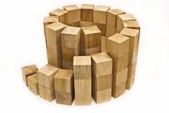 O projeto dos blocos de madeira Fotografia de Stock