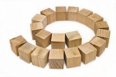 O projeto dos blocos de madeira Fotografia de Stock Royalty Free