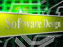 O projeto dos projetos mostra a diagrama And Software modelo Imagem de Stock Royalty Free