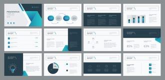 O projeto e a disposição de página do molde da apresentação do negócio projetam para o folheto, o informe anual e o perfil da emp ilustração royalty free