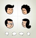 O projeto gráfico da informação, homem de negócios, discurso borbulha ícone, cabeça Imagem de Stock Royalty Free