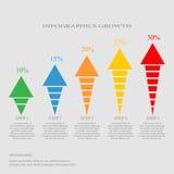 O projeto moderno para o negócio pisa gráfico da informação do diagrama das opções Ilustração do vetor Gráfico da informação Proj Fotografia de Stock Royalty Free