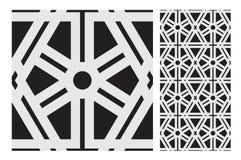 O projeto sem emenda antigo do vintage modela telhas na ilustração do vetor Fotografia de Stock
