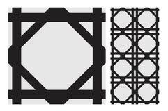 O projeto sem emenda antigo do vintage modela telhas na ilustração do vetor Fotografia de Stock Royalty Free