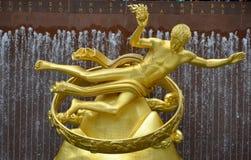 O PROMETHEUS dourado Foto de Stock Royalty Free