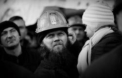 O protesto Ação-da greve de mineiros Silesian Foto de Stock
