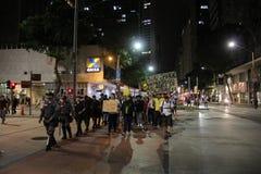 O protesto contra Michel Temer perde a força em Rio de janeiro Fotos de Stock