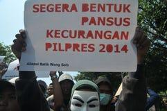O protesto da eleição de Indonésia Imagens de Stock