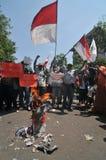 O protesto da eleição de Indonésia Fotografia de Stock