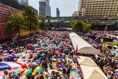 O protesto de Tailândia contra a corrupção do governo. Imagens de Stock Royalty Free