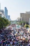 O protesto de Tailândia contra a corrupção do governo. Fotografia de Stock Royalty Free
