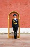 O protetor de honra, Moscovo no túmulo do desconhecido Foto de Stock