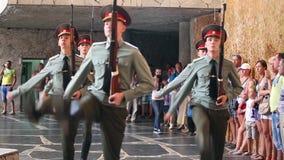 O protetor do soldado da honra vai à câmera video estoque