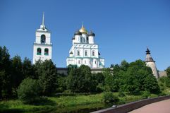 O Pskov Kremlin Imagens de Stock Royalty Free