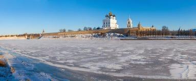 O Pskov Kremlin Fotos de Stock