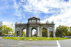 O Puerta de Alcala, Madrid Fotos de Stock Royalty Free