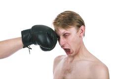 O pugilista ridículo Fotografia de Stock