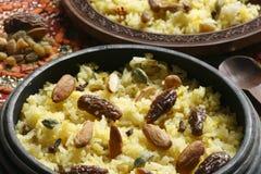O pulao do modur do Kashmiri é arroz abrandado da Índia Imagem de Stock Royalty Free