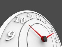 O pulso de disparo branco com seletores vermelhos - cronometre o conceito Imagem de Stock Royalty Free