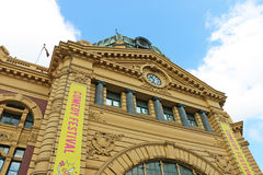 O pulso de disparo da estação de trem da rua do Flinders é um dos ícones os mais reconhecidos de Melbourne imagens de stock royalty free
