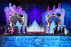 O pulso de disparo do feriado do ano novo mostra a meia-noite moscow 31 12 2010 Foto de Stock