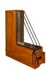 O PVC da amostra de uma janela Imagens de Stock Royalty Free