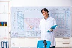 O químico novo que trabalha no laboratório imagem de stock royalty free