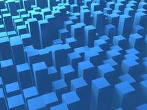 O quadrado azul eleva-se fundo Fotos de Stock Royalty Free