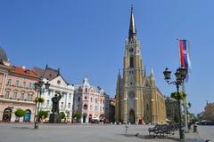 O quadrado central em Novi Sad Imagens de Stock Royalty Free