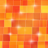 O quadrado colorido sumário 3d cuba o fundo Fotografia de Stock