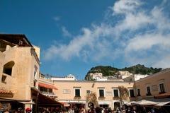 O quadrado da costa de Capri Amalfi Imagens de Stock Royalty Free
