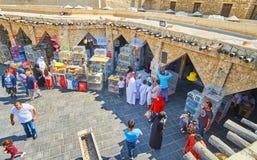 O quadrado de comércio do mercado dos pássaros, Doha, Catar Foto de Stock Royalty Free