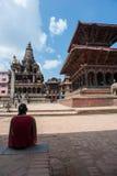 O quadrado de Durbar da cidade real de Patan. Nepal Foto de Stock Royalty Free