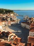 O quadrado de Tartini em Piran Imagens de Stock Royalty Free