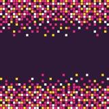O quadrado do estilo do pixel dá forma ao fundo Imagem de Stock