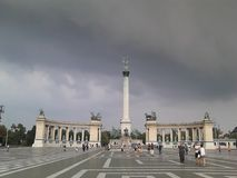 O quadrado do herói de Budapest Imagens de Stock Royalty Free