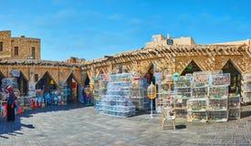 O quadrado do mercado dos pássaros, Souq Waqif, Doha, Catar Fotografia de Stock Royalty Free