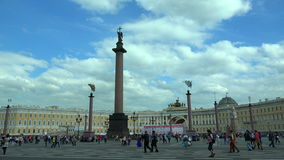 O quadrado do palácio em St Petersburg 4K filme
