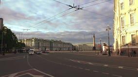 O quadrado do palácio em St Petersburg 4K video estoque