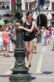 O quadrado do ` s de St Mark em Veneza é um grande lugar a distribuir fotografia de stock royalty free