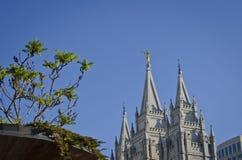 O quadrado do templo de Salt Lake City imagens de stock