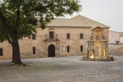 O quadrado e a fonte de Santa Maria Foto de Stock