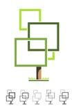 O quadrado estilizado Imagem de Stock Royalty Free
