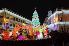 O quadrado famoso de Senado de Macau Foto de Stock