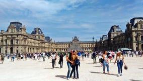 O quadrado maravilhoso do museu do Louvre foto de stock royalty free